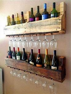 recycling coole m 246 bel aus alten paletten weinregal