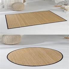 bambus teppich bambusteppich highq teppich bambus bambusmatte in rund