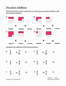4th grade math worksheet adding and subtracting fractions fraction addition worksheet education