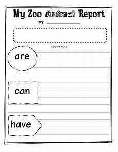 animal report worksheets 14023 my zoo animal report pdf with images kindergarten writing classroom writing grade