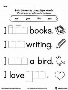 building sight words worksheets 21020 preschool and kindergarten worksheets sight word worksheets sight words kindergarten