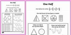 halving shapes worksheet eyfs 1106 one half worksheet maths fractions halves activity