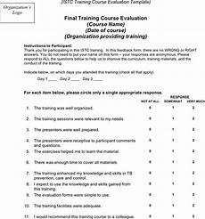 3 training evaluation form free download