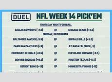 week 13 nfl spread picks