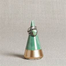 ready to ship minimalist ring holder emerald gold