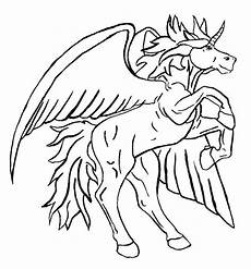 unicorn pegasus coloring pages for