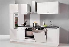 küchenzeile mit herd optifit k 252 chenzeile ohne e ger 228 te 187 bornholm breite 270 cm