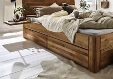 Holzbetten Mit Schubladen - massivholzbett mit 3 schubladen 160x200 54 cm eiche ge 246 lt