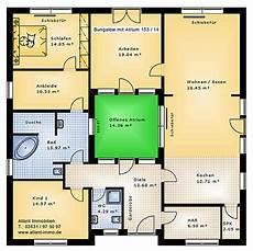 Atrium 153 14 Bungalow Einfamilienhaus Neubau Massivbau