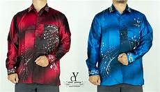 cy b085 kemeja batik lelaki shirt malaysia vintage satin