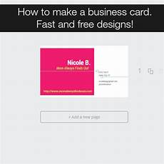 How To Make A Business How To Make Your Own Business Cards With Canva