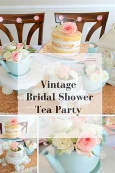 vintage party theme ideas bridal shower tea tea party