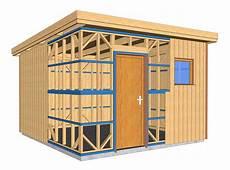 plans 224 ossature bois pour autoconstruction abri de jardin