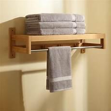 Pathein Bamboo Towel Rack With Hooks Bathroom
