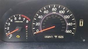 2009 Honda Crv Engine Light On And D Flashing  Shelly