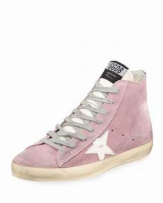 golden goose francy suede high top sneakers neiman