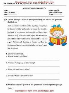 passage class 2 subject english search reading comprehension worksheets