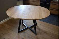 table ronde metal extendable table modern design steel and timber