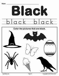 free color black worksheet supplyme