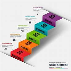 abstract 3d business stair step success infographic stock vector illustration of info