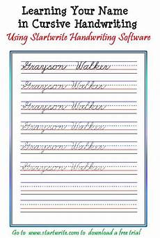 handwriting worksheets with names 21627 introducing children to cursive with their name from startwrite improving handwriting