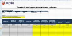 Feuille De Calcul Suivi De Consommation Carburant Excel