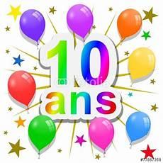 carte anniversaire 10 ans quot anniversaire 10 ans quot photo libre de droits sur la banque