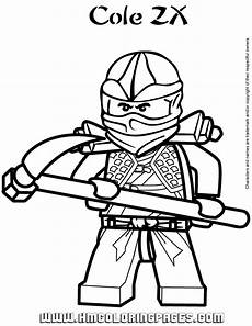 ninjago cole zx coloring page free printable coloring
