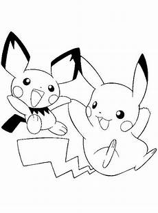Malvorlagen Pikachu Pikachu Coloring Pages With Pichu Ausmalbilder