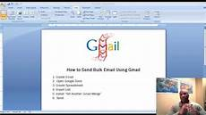 how to send bulk email using gmail merge youtube