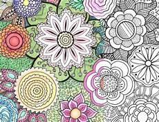 Malvorlagen Blumen Bunt Blumenmuster Ausdrucken Home Decor Wallpaper