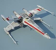 new x wing with r2 d2 3d modeling and digital