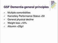 dementia and pneumonia