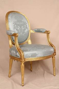 Louis Seize Stuhl - early 19th century gilded louis xvi antique
