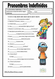 pronombres indefinidos morfosintaxi pinterest student centered resources printables and