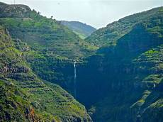 la gomera island canary islands waterfalls in valle