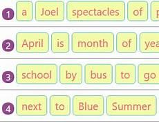 rearranging jumbled words to make sentences activity 10 grammar