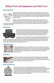 Equipment Names And Uses by Baking Tools And Equipment