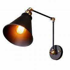 industrial retro two swing arm l 1 light metal tapered shade wall sconce l ebay