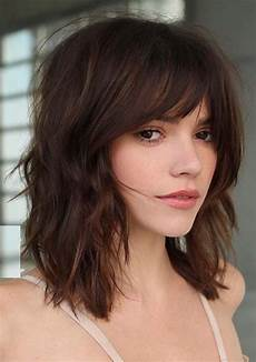 ridiculous medium length haircuts with bangs in 2019
