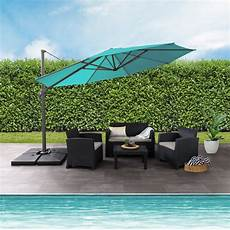 hton bay 11 ft offset patio umbrella with solar led lights in the home depot canada