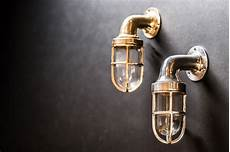 brass and aluminium ship passageway wall lights felix