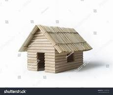 toothpick house plans tiny house model made toothpicks dry stock photo 171059738