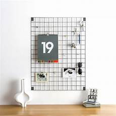 memo board grey wire mesh memo board by block design