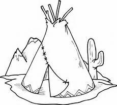 Ausmalbilder Indianer Tipi Ausmalbild Tipi Teepee Und Kaktus Ausmalbilder