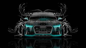 Tony Kokhan Audi Rs7 Front Water Car Azure Neon Black El