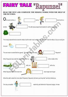 tales worksheets 15253 tale rapunzel part1 esl worksheet by jphoenix