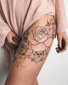 Bouquet Of Roses With Mandala Veronicalilutattoo