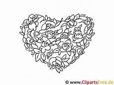 herz aus blumen valentinstag ausmalbilder