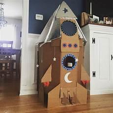 cardboard diy rocketship space crafts for space